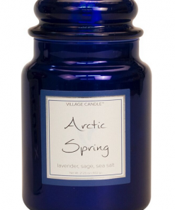 village-candle-arctic-spring-large-jar-metallic