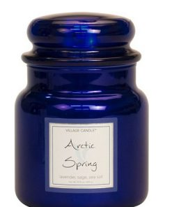 village-candle-arctic-spring-medium-jar-metallic