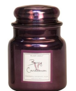 village-candle-berry-cardamom-medium-jar-metallic