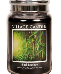 village-candle-black-bamboo-large-jar