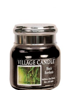 village-candle-black-bamboo-small-jar
