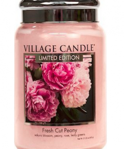 village-candle-fresh-cut-peony