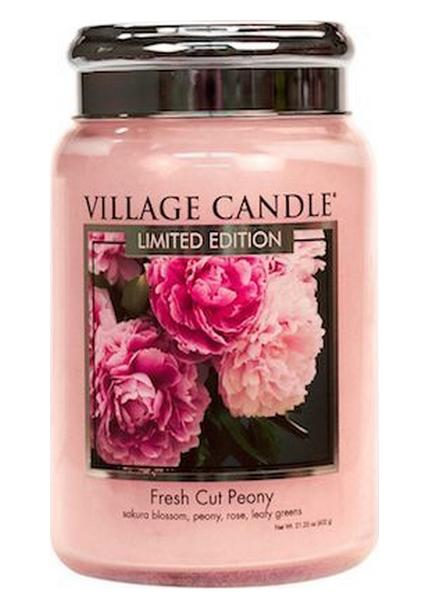 village-candle-fresh-cut-peony