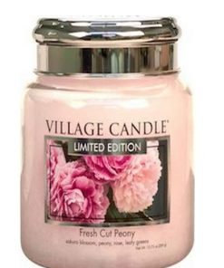 village-candle-fresh-cut-peony-medium-jar