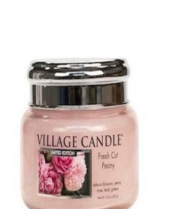 village-candle-fresh-cut-peony-small-jar