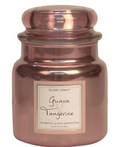 village-candle-guave-tangerine-medium-jar-metallic