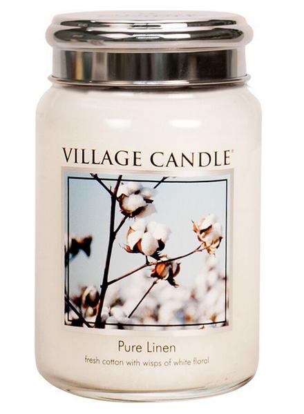 village-candle-pure-linen-large-jar