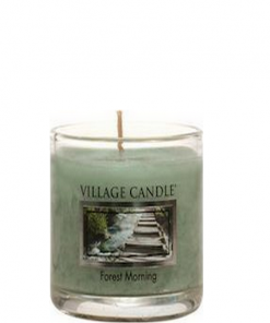 village-candle-forest-morning-votive