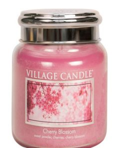 village-candle-cherry-blossom-medium-jar