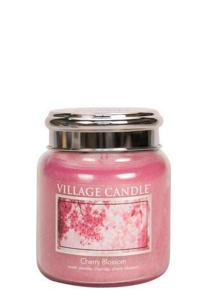 village-candle-cherry-blossom-mini-jar