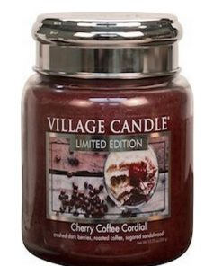 village-candle-cherry-coffee-cordial-medium-jar