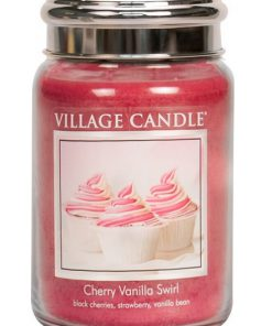 village-candle-cherry-vanilla-swirl