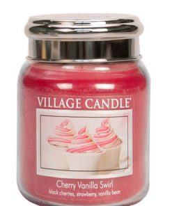 village-candle-cherry-vanilla-swirl-medium-jar