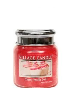village-candle-cherry-vanilla-swirl-mini-jar