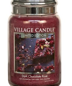 village-candle-dark-chocolate-rose