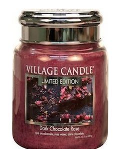 village-candle-dark-chocolate-rose-medium-jar