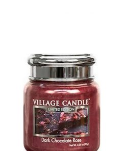 village-candle-dark-chocolate-rose-mini-jar