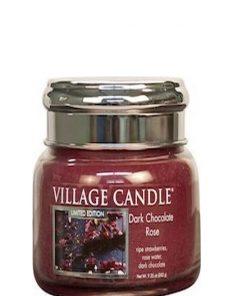 village-candle-dark-chocolate-rose-small-jar