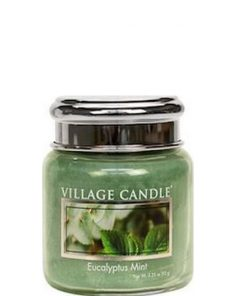 village-candle-eucaplyptus-mint-mini-jar