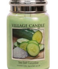 village-candle-sea-salt-cucumber-large-jar