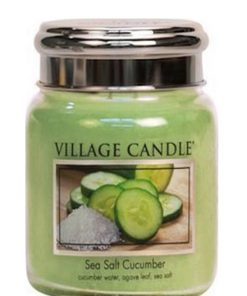 village-candle-sea-salt-cucumber-medium-jar