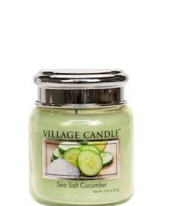 village-candle-sea-salt-cucumber-mini-jar